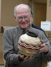 Photo: Stan Sherman - 10-segment vessel of maple, ebony, bloodwood, and holly