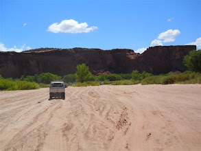 Photo: Now the sand--four miles to the jct of the two arms of the canyon.