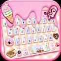 Sweet Donut Pink Drip Keyboard Theme icon