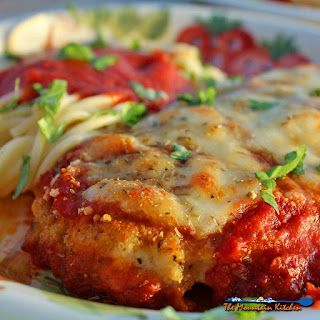Delicious Chicken Parmesan With Spaghetti.