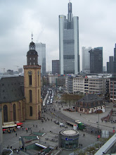 Photo: Downtown Frankfurt is funny: You have old buildings, like the Hauptwache (built in 1729), within spitting distance of modern high-rises.