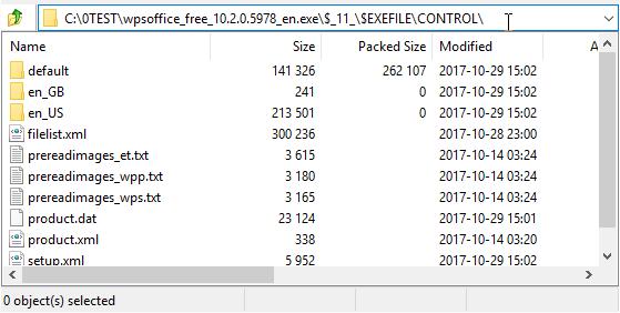 CONTROL folder