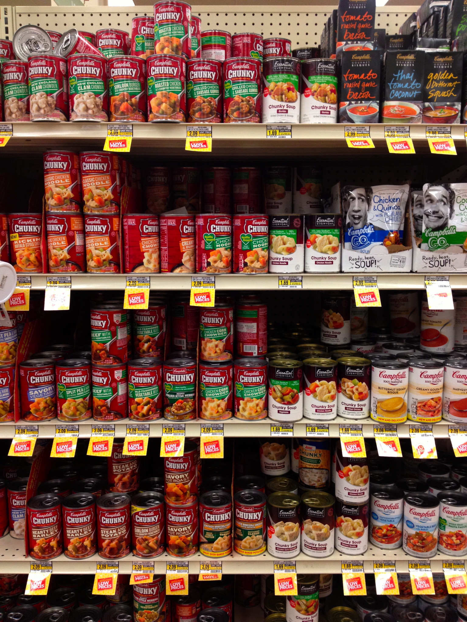 Photo: I was thrilled to see so much soup on sale! I can't get enough in the wintery months.