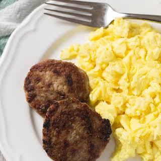 Homemade Paleo Breakfast Sausage Patties.