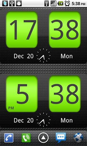 Flip Clock xTheme Widget 4x2 screenshot 2
