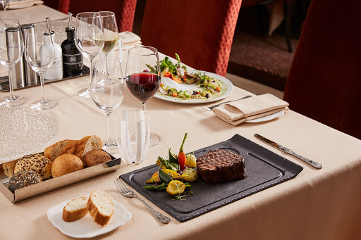 Atlantide, a formal restaurant on Silver Muse, offers fine seafood and steaks.