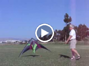 "Video: ""The Dance"" July 5, 2004, Baylands Park, CA. My attempt at showing tethered 3 line sport kite hovering for shooting kite photos."