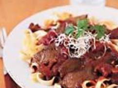 Braised Beef And Pasta With Italian Mushroom Sauce Recipe