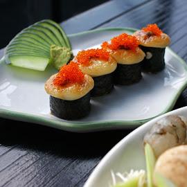 Sushi by Mulawardi Sutanto - Food & Drink Plated Food ( sushi, travel, takigawa, resto, indonesia, bandung )