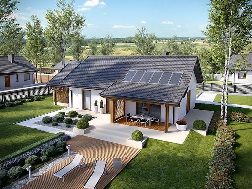projekt Kornel VI z wiatą Energo