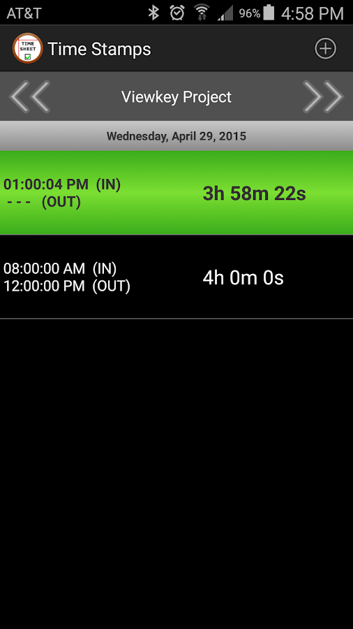 Simple TimeSheet- screenshot