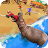 Angry Hippo Attack Simulator-City & Beach Attack logo