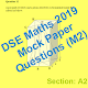 DSE Maths Mock Paper 2019 (m2)- Paper 1 Section A2 for PC-Windows 7,8,10 and Mac