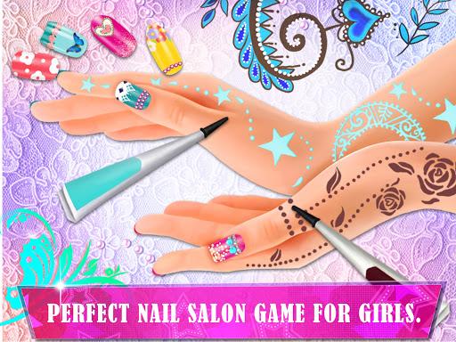 Henna's Nail Beauty SPA Salon - Games for Girls 1.0 screenshots 2