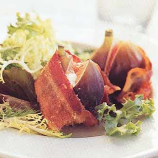 Mesclun Salad with Goat Cheese-Stuffed Figs Wrapped in Bacon Recipe