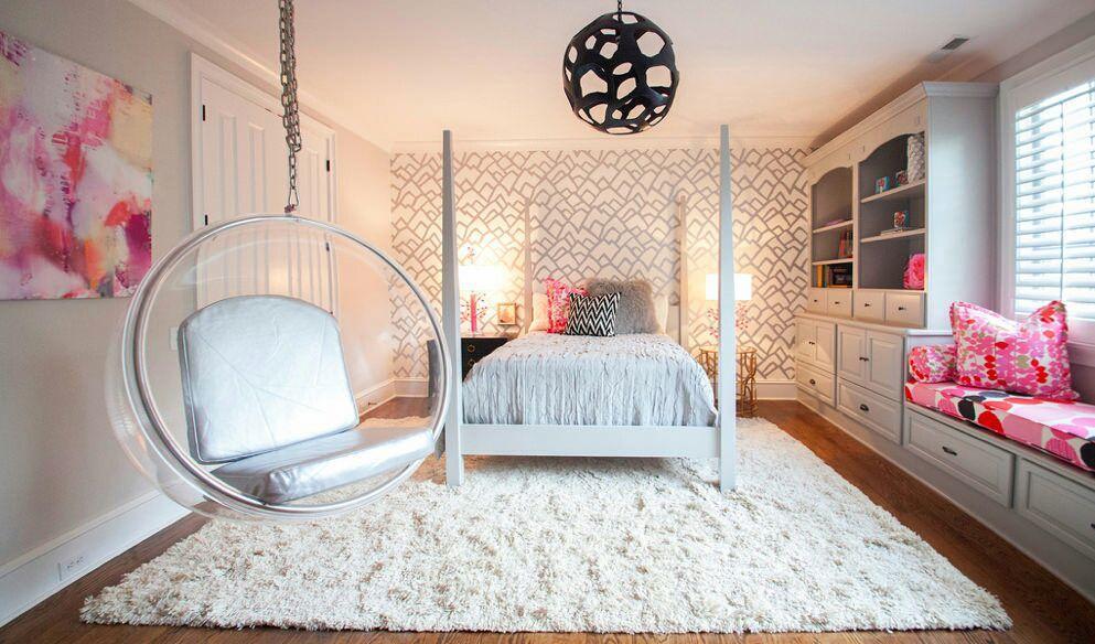 Phòng ngủ có bố trí thêm xích đu