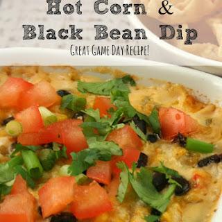 Hot Corn & Black Bean Dip | Game Day Recipe!