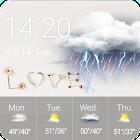 Free Weather Widget Clock Love icon