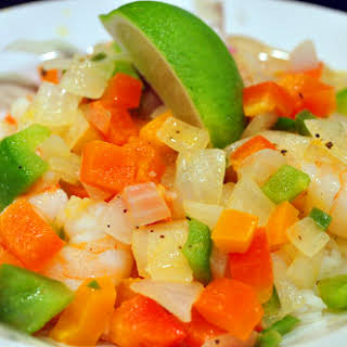 Caribbean Shrimp and Peppers with Lime.