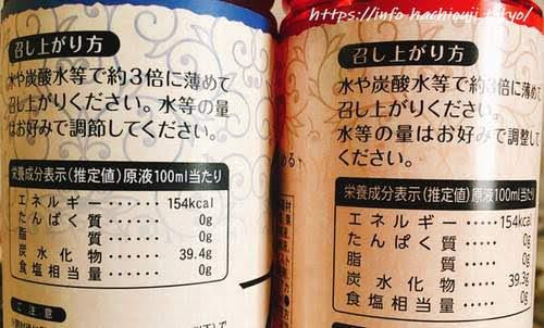 業務スーパー ブルーベリー酢 ザクロ酢 カロリー