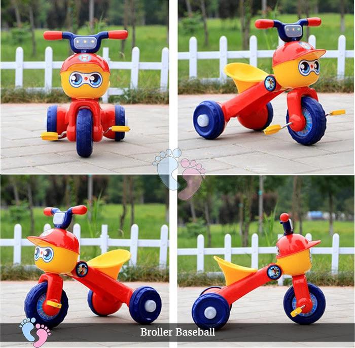 Xe đạp ba bánh trẻ em Broller XD3 Baseball 7