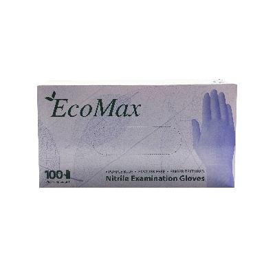 guantes de nitrilo ecomax talla s 100 und