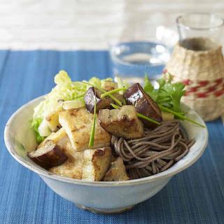 Miso-Marinated Tofu and Eggplant Over Soba Noodles Recipe