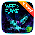 Weed Flame GO Keyboard Animated Theme icon