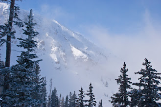 Photo: Mount Baldy in the mist