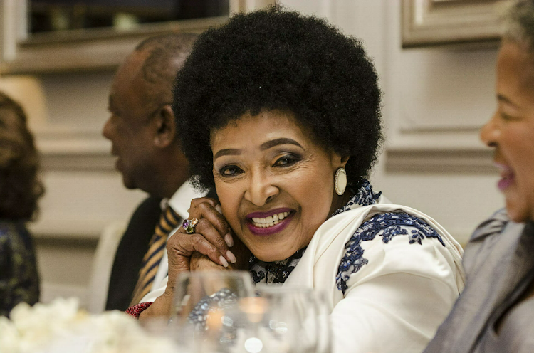 Winnie Madikizela-Mandela at her 80th birthday celebration in 2016. File photo
