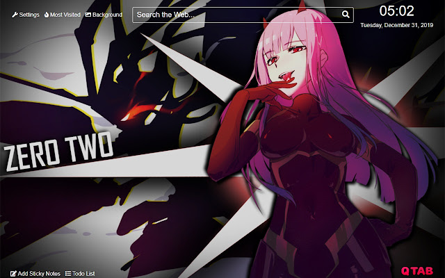 Zero Two Wallpaper For New Tab