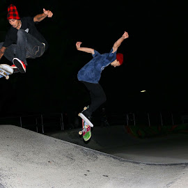 Tag Team Duo by Tim Kavanagh - Sports & Fitness Skateboarding ( skate skateboarding people skatepark )