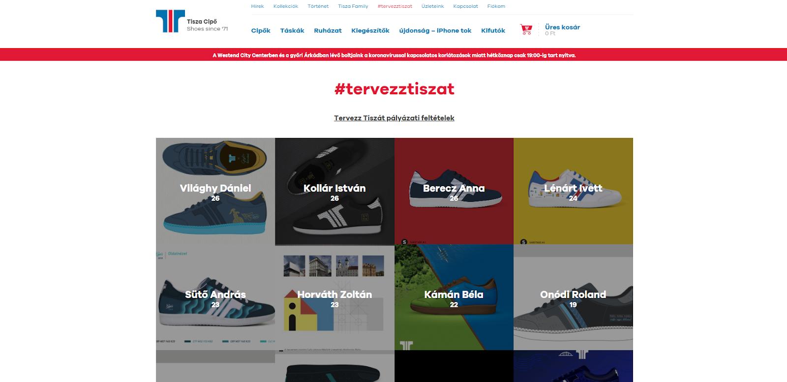 """Közösségépítés a Tiszacipő webáruházában: a """"tervezztiszat"""" kezdeményezés"""