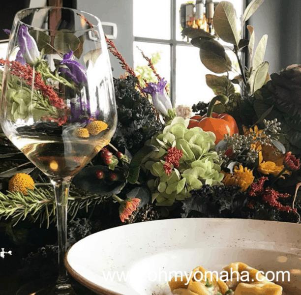 Best Omaha Restaurants - Dante Pizzeria Napoletana pasta entree and wine pairing