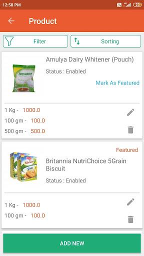 Egrocer- GroceryStores Order Management App screenshot 4