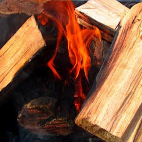 Vuur by Nico Ebersohn - Abstract Fire & Fireworks ( burning, smoke, fire, wood, burned,  )
