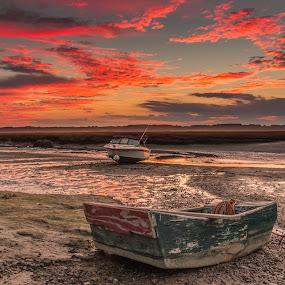 my little boat by Michael Otero - Landscapes Sunsets & Sunrises ( little boat, range, sunset, colors, vibrant, boat )