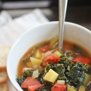 Roasted Tomato and Kale Soup