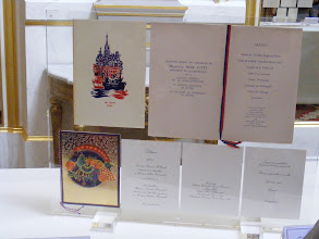 Photo: A collection of menus from State dinners is on display.