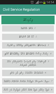 Maldives Civil Service Regulation - náhled