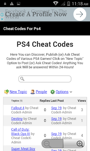Cheat Codes For Ps4 1.1 screenshots 2