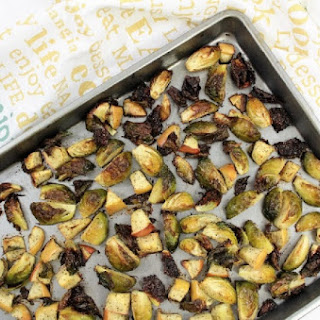 Burnt Brussels Sprouts & Apples