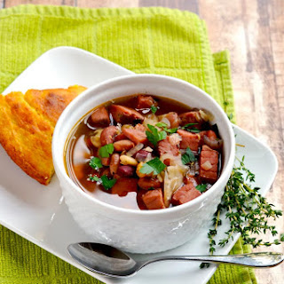 Ham and 15 Bean Soup (Slow Cooker or Instant Pot).