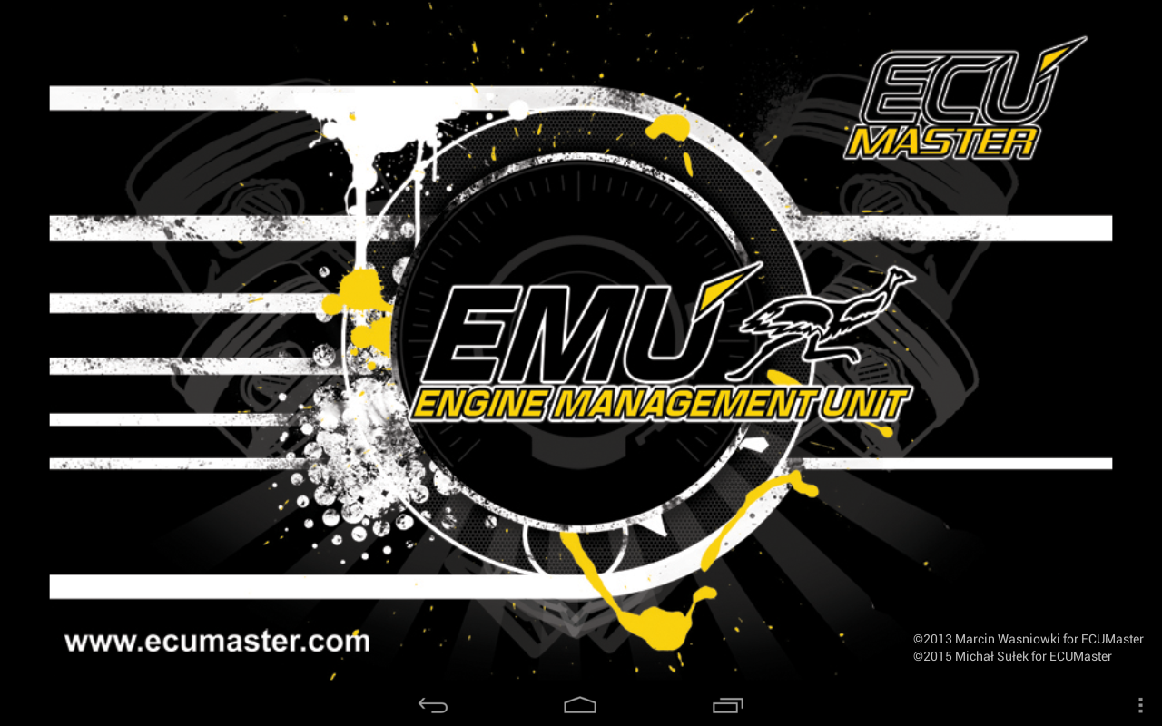 ECUMASTER ANDROID DASHBOARD- screenshot