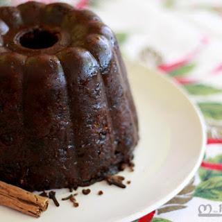 Vegan Christmas Plum Pudding with Brandy Butter.