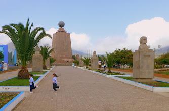 Photo: Mitad del Mundo - Equator monument