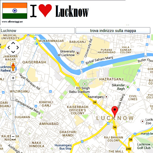 Lucknow map