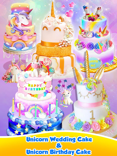 Unicorn Food - Sweet Rainbow Cake Desserts Bakery 2.7 screenshots 10