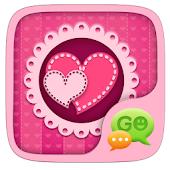 GO SMS Stylish Pink