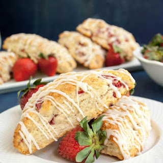 Fresh Strawberry Cream Scones.